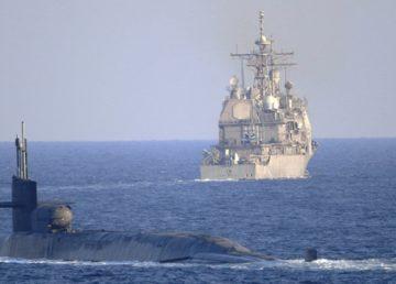 ABD Donanması, nükleer kapasiteli güdümlü füze denizaltısı ve iki güdümlü füze kruvazörü ile Hürmüz Boğazı'na girerken, ABD ve Suudi Arabistan Hava Kuvvetleri de Körfez'de iki ülke donanması ile ortak hava-deniz entegrasyon tatbikatı yaptı.